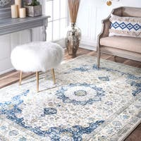 Maison Rouge Oryan Traditional Faded Persian Vintage Blue Area Rug (12' x 15')