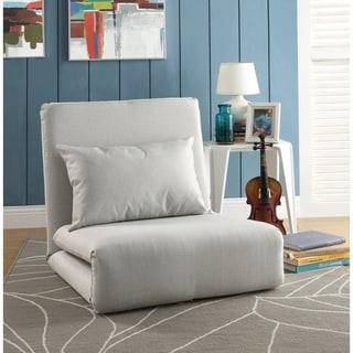 Loungie Relaxie Linen 5-position Adjustable Flip Chair/Sleeper/Dorm