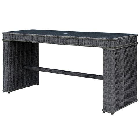 Liley Contemporary Grey Outdoor Bar Table by FOA