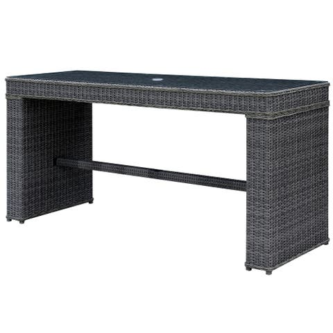 Furniture of America Zons Contemporary Grey Metal Outdoor Bar Table