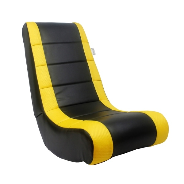 Loungie Rockme Video Gaming Rocker Chair For Kids Teens Adults  sc 1 st  Overstock.com & Shop Loungie Rockme Video Gaming Rocker Chair For Kids Teens ...