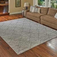 """Transitional Lacey Gray Area Rug by Gertmenian (7'10"""" x 10') - 7'10 x 10'"""