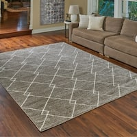 "Transitional Lacey Beige Area Rug by Gertmenian (7'10"" x 10') - 7'10 x 10'"