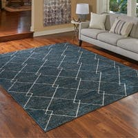 "Transitional Lacey Blue Area Rug by Gertmenian (7'10"" x 10') - 7'10 x 10'"