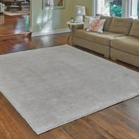 "Regal Ivory Heathered Shag Area Rug by Gertmenian (7'10"" x 10') - 7'10 x 10'"