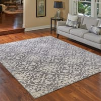 Gertmenian Transitional Angela Grey Area Rug - 6'6 x 9'6