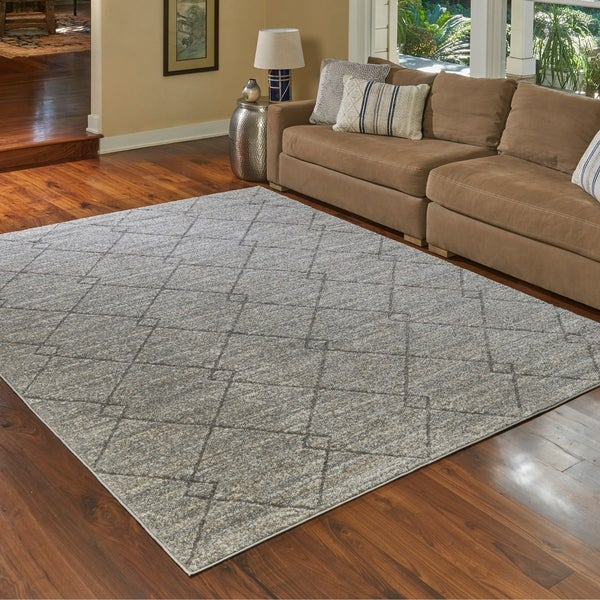 Shop Transitional Lacey Gray Area Rug By Gertmenian 6 6