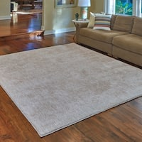 Regal Oatmeal Heathered Shag Area Rug by Gertmenian (5' x 7') - 5' x 7'