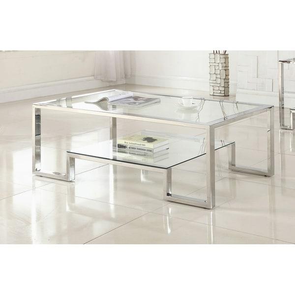 Shop Best Master Furniture Weathered Oak Sleigh: Shop Best Master Furniture GW121 Glass Coffee Table