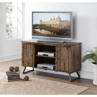 Keystone Acacia Distressed Wood and Iron 50 Inch Entertainment Console