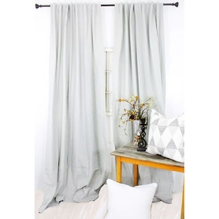 American Colors Brand Heritage Cotton Solid Curtain Panels Mist Grey