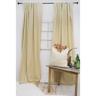 American Colors Brand Heritage Wheat-colored Cotton Curtain Panels