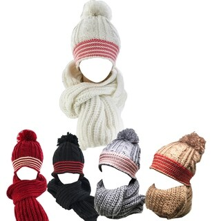 Kate Marie 'Thyme' Women Beanie and Scarf set