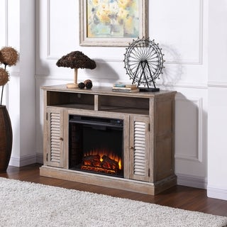 Harper Blvd Albright Burnt Oak Infrared Fireplace TV Stand