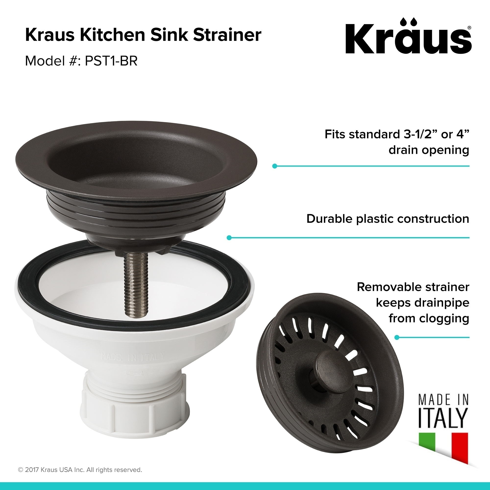 Kraus PST-1 Kitchen Sink Strainer