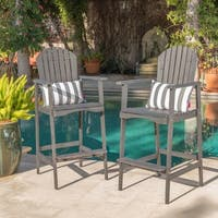 Malibu Outdoor Wood Acacia Barstool (Set of 2) by Christopher Knight Home