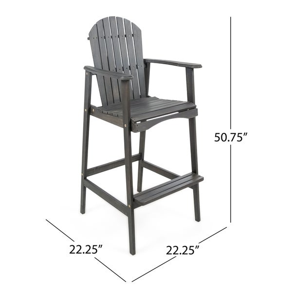 Malibu Outdoor Wood Acacia Barstool (Set of 4) by Christopher Knight Home