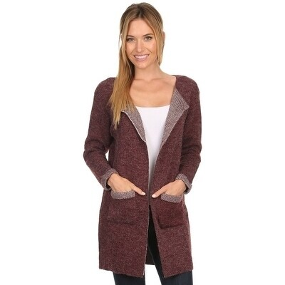 High Secret Women's Knit Open Front Long Cardigan