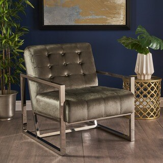 Augusto Modern Tufted Velvet Club Chair by Christopher Knight Home