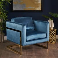Caitlin Modern Tufted Velvet Club Chair by Christopher Knight Home