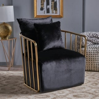 Ania Modern Velvet Club Accent Chair by Christopher Knight Home