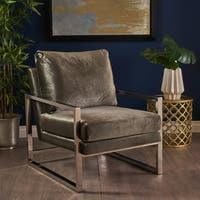 Electa Modern Velvet Club Chair by Christopher Knight Home