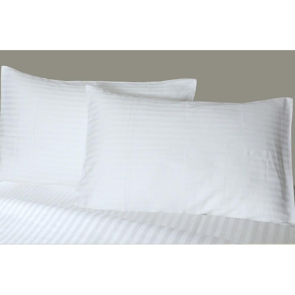300 Thread Count Standard Queen Size Pillow Cases 100 Sateen Cotton 4 Pack 4