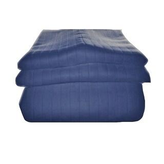 Just Linen 600 Thread Count Bedspread Coverlet, Cotton, Royal Matelasse, 3-Piece