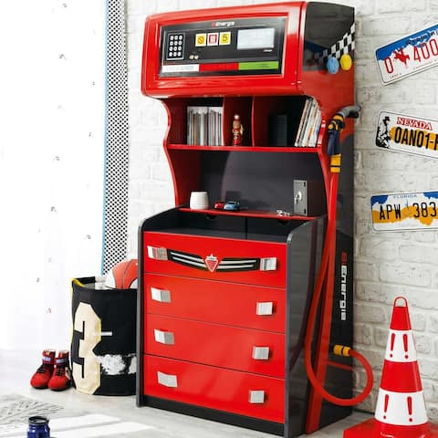 Cilek GTS Gas Pump 4 Drawer Chest with Extra Storage
