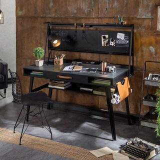 Cilek Dark Metal Smart Desk with Hutch