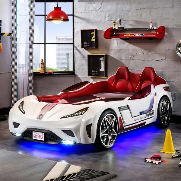 Shop Cilek Gts Twin Race Car Bed Free Shipping Today