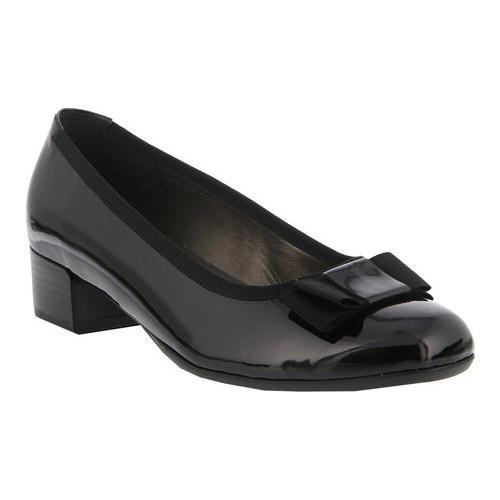 Women's Spring Step Genya Low Pump Black Patent Leather