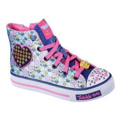 Girls' Skechers Twinkle Toes Shuffles Sneaker Aqua/Multi