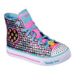 Girls' Skechers Twinkle Toes Shuffles Sneaker Black/Multi