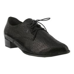 Women's Spring Step Conchetta Oxford Black Leather