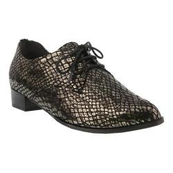 Women's Spring Step Conchetta Oxford Charcoal Leather