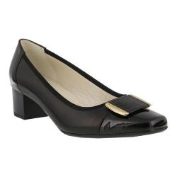 Women's Spring Step Eloid Low Pump Black Leather/Patent