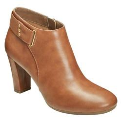 Women's A2 by Aerosoles Honesty Ankle Boot Dark Tan Faux Leather
