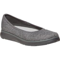 Women's Propet TravelFit Flat Slip On Grey Stretch Jersey