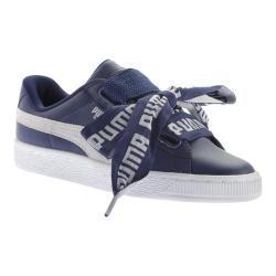 Women's PUMA Basket Heart DE Sneaker Blue Depths/PUMA White