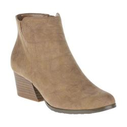 Women's Soft Style Gleda Ankle Boot Taupe Faux Nubuck