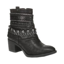 Women's Carlos by Carlos Santana Cole Bootie Man-made Black Leather