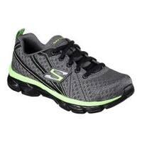 Boys' Skechers Advance Turbo Tread Sneaker Charcoal/Lime