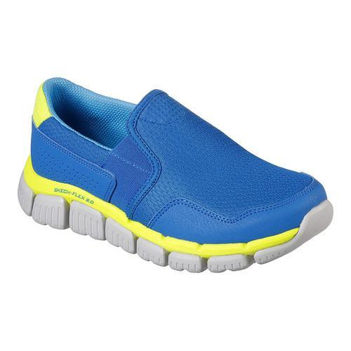 c7ee4fe531a9 Shop Boys  Skechers Skech-Flex 2.0 Wentland Slip-On Sneaker Blue Light Blue  - Free Shipping Today - Overstock - 17382515