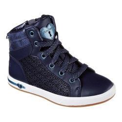 Girls' Skechers Shoutouts High Top Sneaker Navy