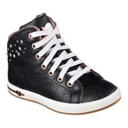 Girls' Skechers Shoutouts Zipper Fancy High Top Black/Rose Gold