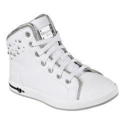 Girls' Skechers Shoutouts Zipper Fancy High Top White/Silver