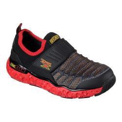Boys' Skechers Skech-X Cosmic Foam Portal Crusher Slip-On Sneaker Black/Red