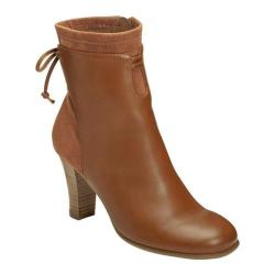Women's A2 by Aerosoles Leading Role Ankle Boot Dark Tan Combo Faux Leather/Faux Suede