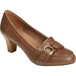 Women's A2 by Aerosoles Shore Start Pump Mid Brown Combo Faux Leather